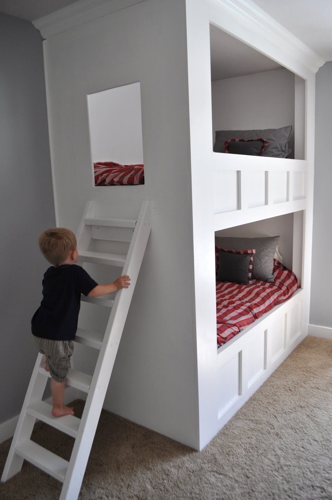 Loft bed ladder ideas  Thomas may do this for the girls  If they end up sharing a room