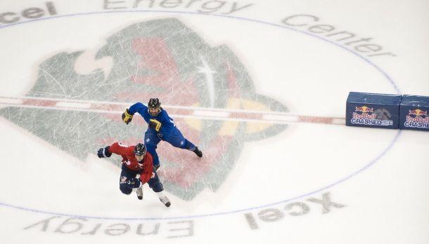 RedBull cases at the hockey rink...