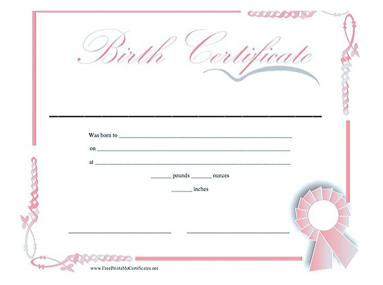 Cute Looking Birth Certificate Template , Birth certificate template - best of birth certificate pic