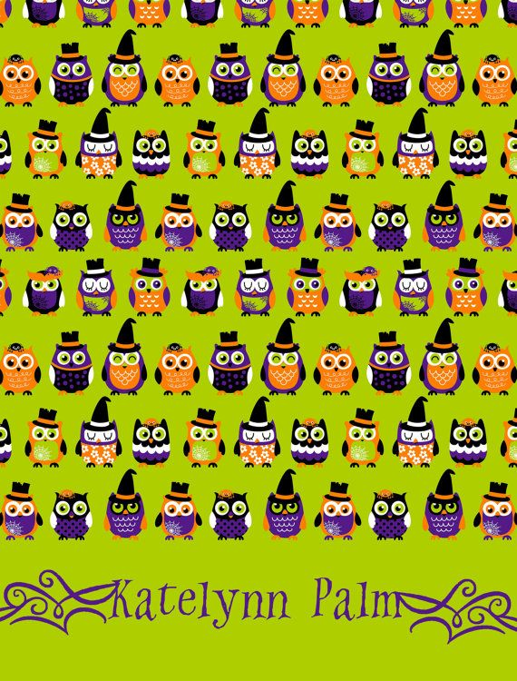 Halloween Owls Life Planner Cover (Erin Condren interchangeable cover) #eclp #erincondren #cover #halloween