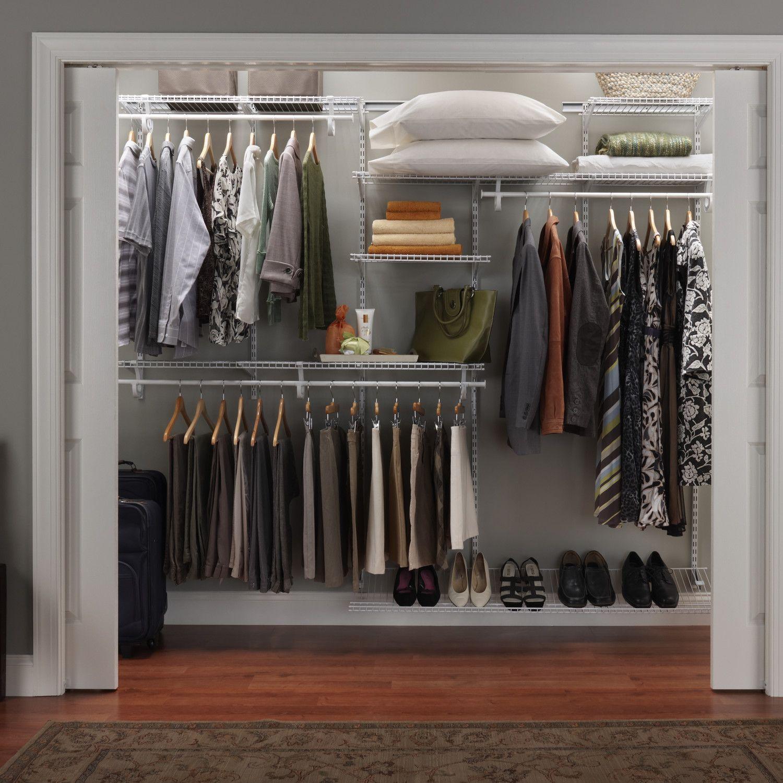 Closetmaid Shelftrack Adjustable Closet Organizer Kit Closet Organization Cheap Home Depot Closet Organizer Home Depot Closet