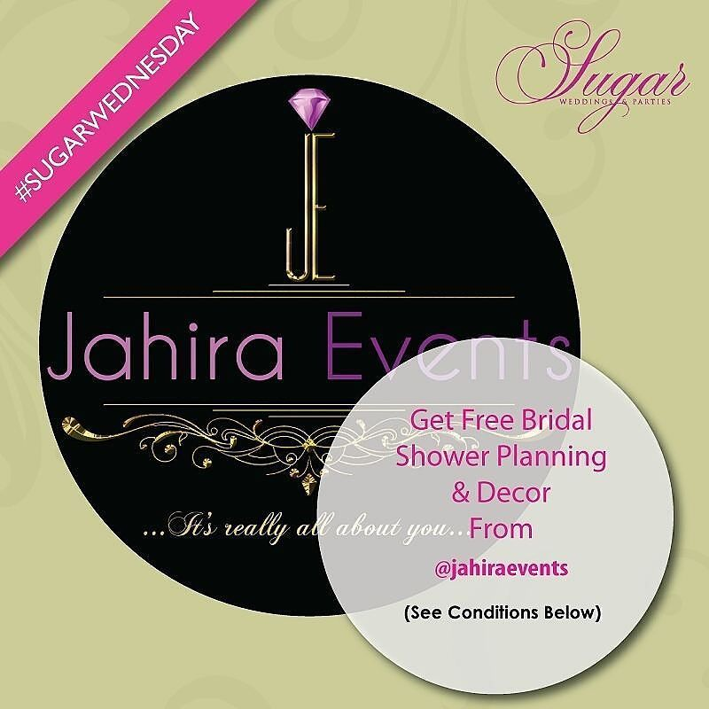 It's #sugarwednesday giveaway for November !!! One beautiful Bride gets @Jahiraevents to plan a lovely bridal shower with décor. HOW TO ENTER:  1) Follow @sugarweddings and @jahiraevents 2) Repost picture  3) Use the following Hashtags #sugarweddings #sugarwednesday #Jahiraevents 4) Tag 5 friends  The person with the MOST likes wins.  This Giveaway Contest ends on Friday 30th of November 2016. #sugarwednesday #Novembergiveaway #Jahiraevents