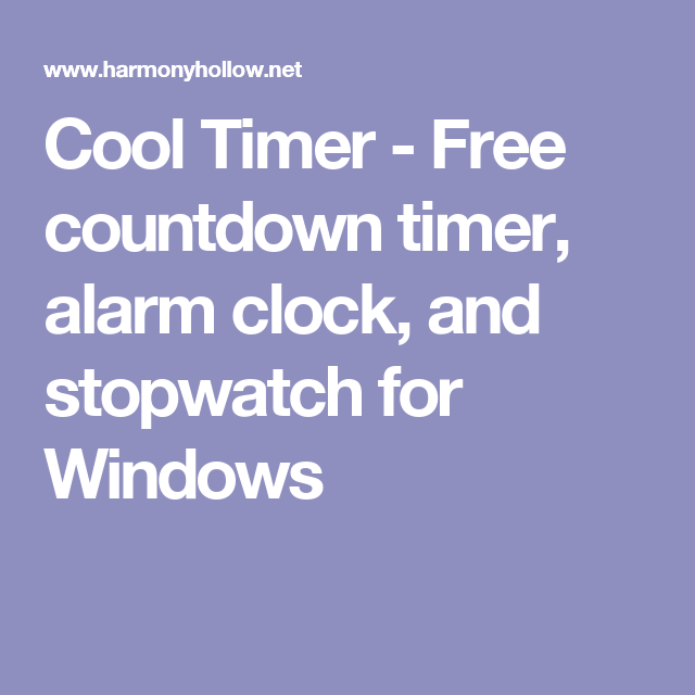 Cool Timer - Free countdown timer, alarm clock, and stopwatch for