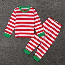 Fashion Cotton Christmas striped clothes sets new year boys girls clothing kids pajamas t shirt and pants children sets T0164(China (Mainland))
