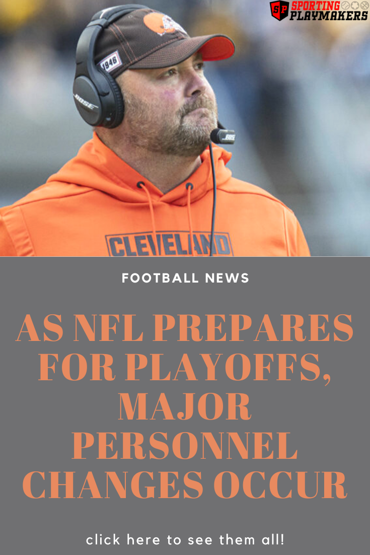 As NFL Prepares for Playoffs, Major Personnel Changes