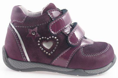Ciciban Love Heart Burgundy Suede