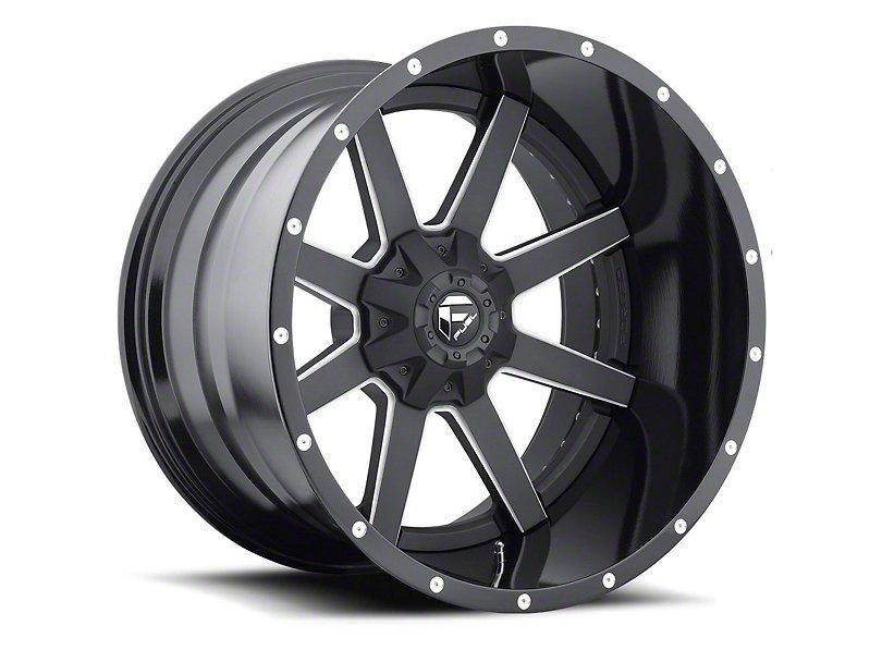 Fuel Wheels Maverick 2 Piece Black Milled 6 Lug Wheel 24x14 04 19 F 150 Black Off Road Wheels