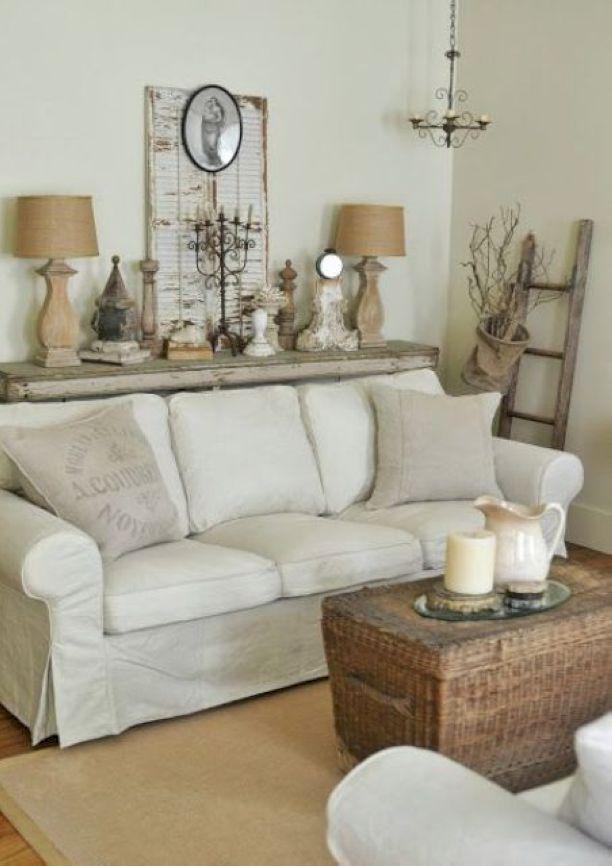 50 shabby chic farmhouse living room decor ideas shabby - Couchtisch shabby chic ...