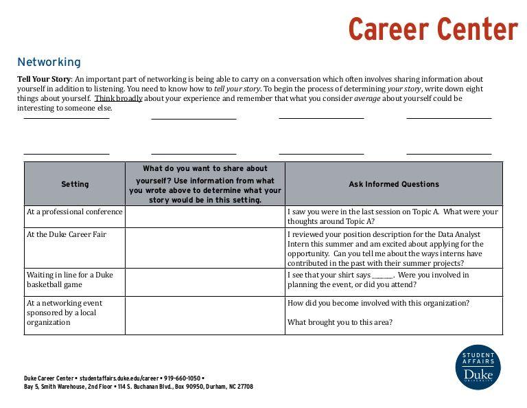 Duke University Career Center (dukecareers) on Pinterest - intern job description