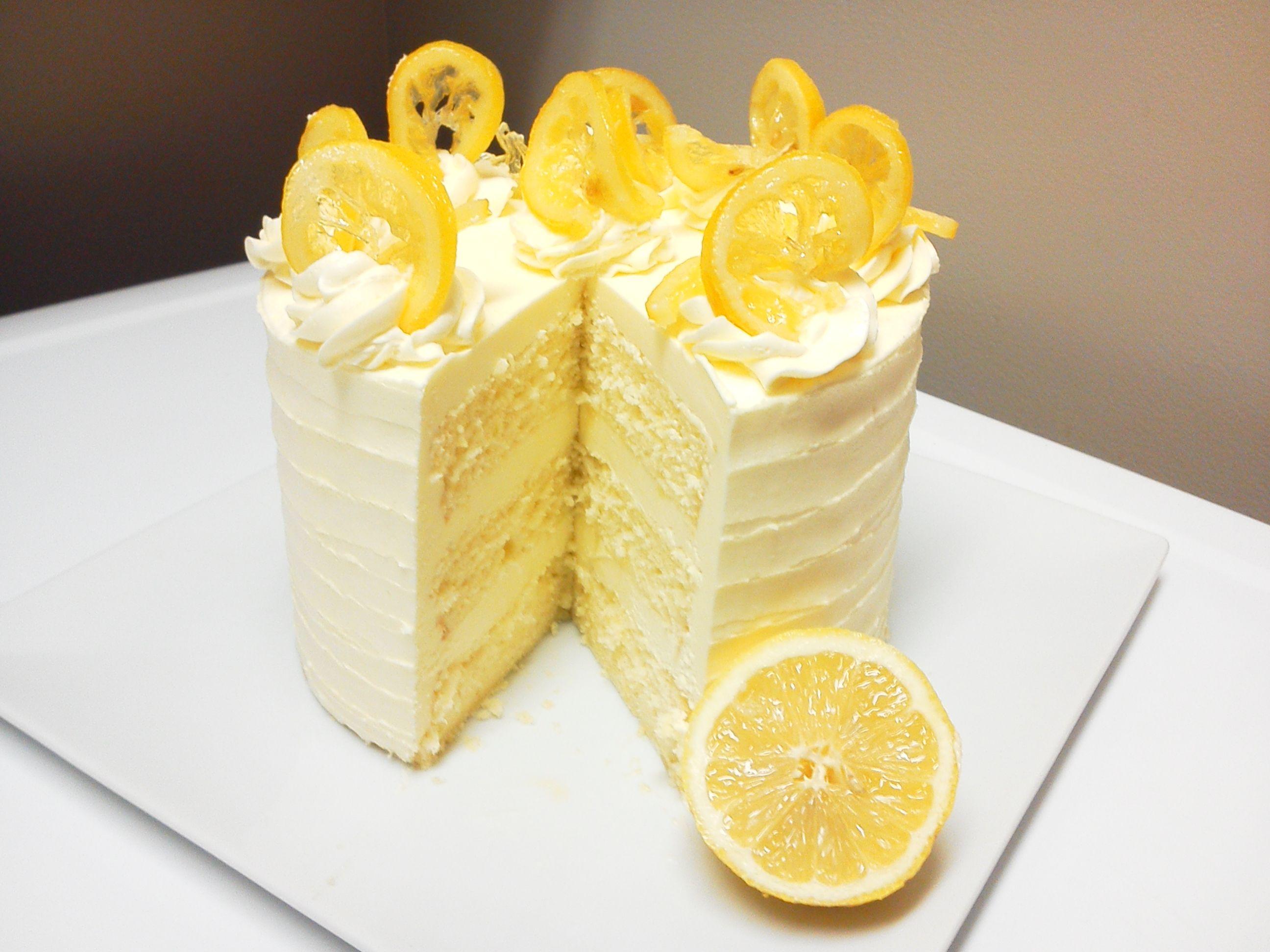 Admirable Lemon Chiffon Cake Delivered Lemon Desserts Cake Yummy Cakes Personalised Birthday Cards Arneslily Jamesorg