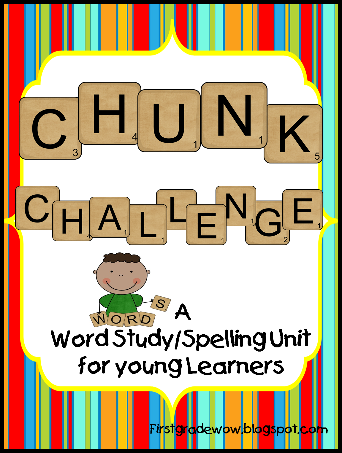 Free First Grade Wow Chunk Challenge Spelling Resource