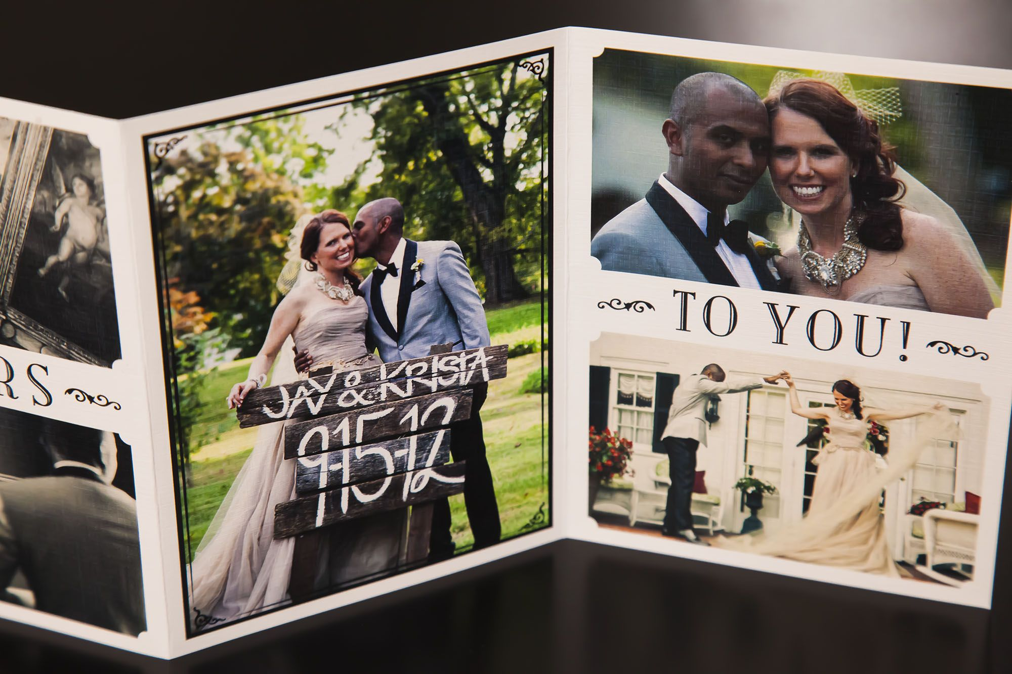 17 Best images about Wedding Thank You Cards – Wedding Photo Thank You Cards