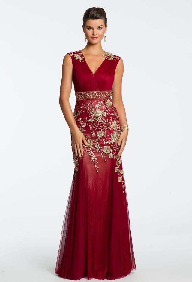 Stretch Mesh Applique Dress from Camille La Vie and Group USA  ca3de3701