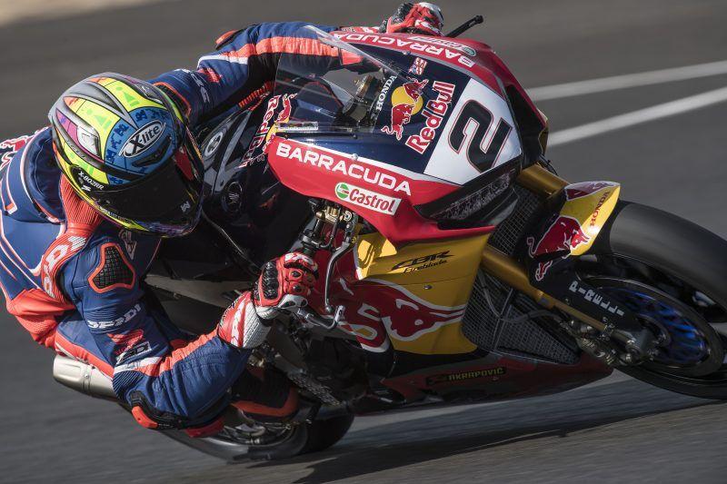 Leon Camier Impresses On Debut Test With Red Bull Honda World Superbike Team Honda Motorcycle News Racing Bikes
