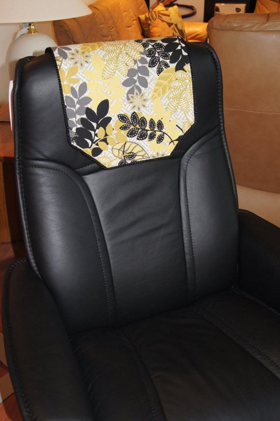 Recliner Chair Headrest Cover Black Yellow Gray By Chairflair Headrest Recliner Chair Recliner