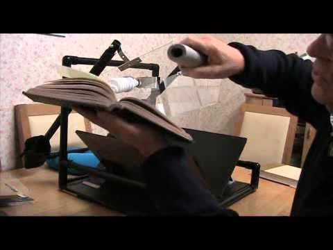 Easy Book Scanner Part 3 Lighting, book preparation, cameras and cover