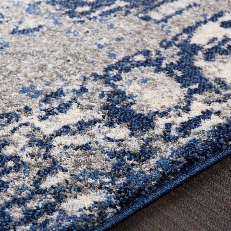 Almendarez Oriental Navy Dark Blue Area Rug In 2020 Navy Blue Rug Navy Blue And Grey Living Room Navy Rug Living Room