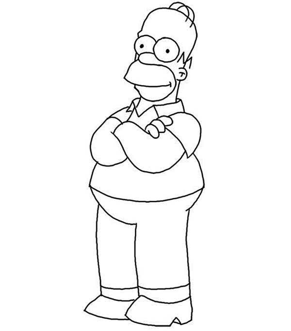 Homer Simpson From The Simpsons Coloring Page Coloring Sun In 2020 Simpsons Drawings Coloring Pages Homer Simpson Drawing