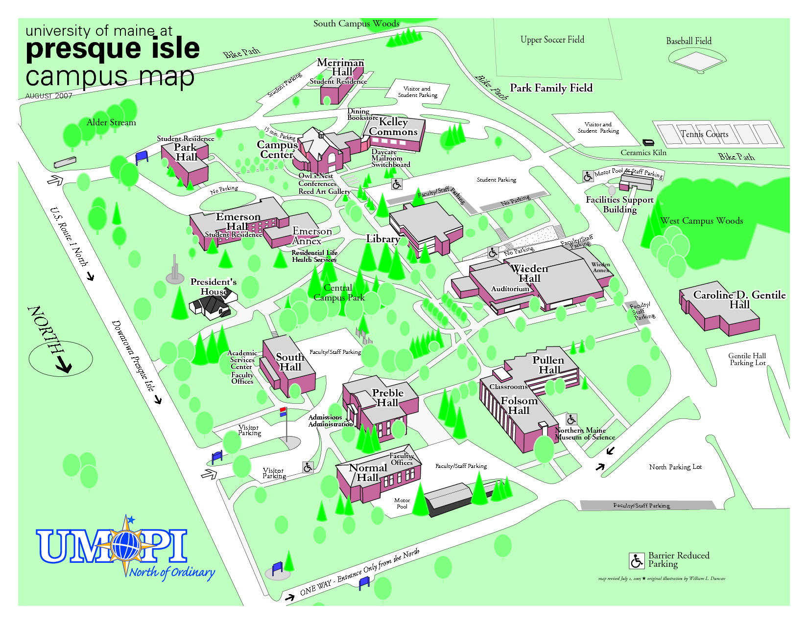 Presque Isle Campus Map Aroostook County Maine