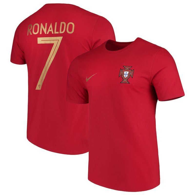 Ronaldo Portugal National Team Nike Name and Number T-Shirt – Red ... bdfcb8e80