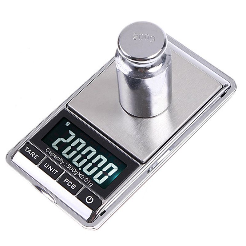 200g x 0-01g Portable Mini Digital Pocket Scale Balance Weight Jewelry Gram KF