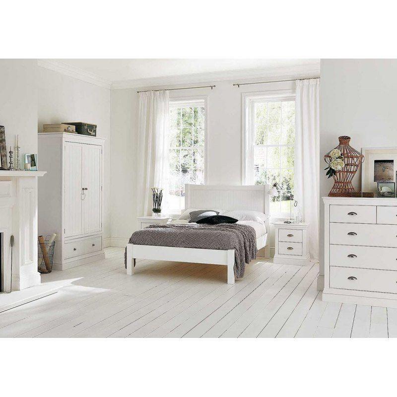 Białe łóżko 160 x 200 cm Molis Łóżka białe Pinterest - Schlafzimmer Landhausstil Weiß