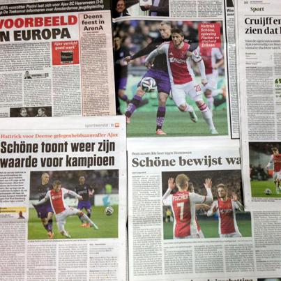 Lovende woorden voor Lasse Schöne in de kranten op maandagochtend!
