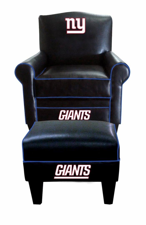 New York Giants NFL Game Time Chair U0026 Ottoman/Footstool Furniture Set