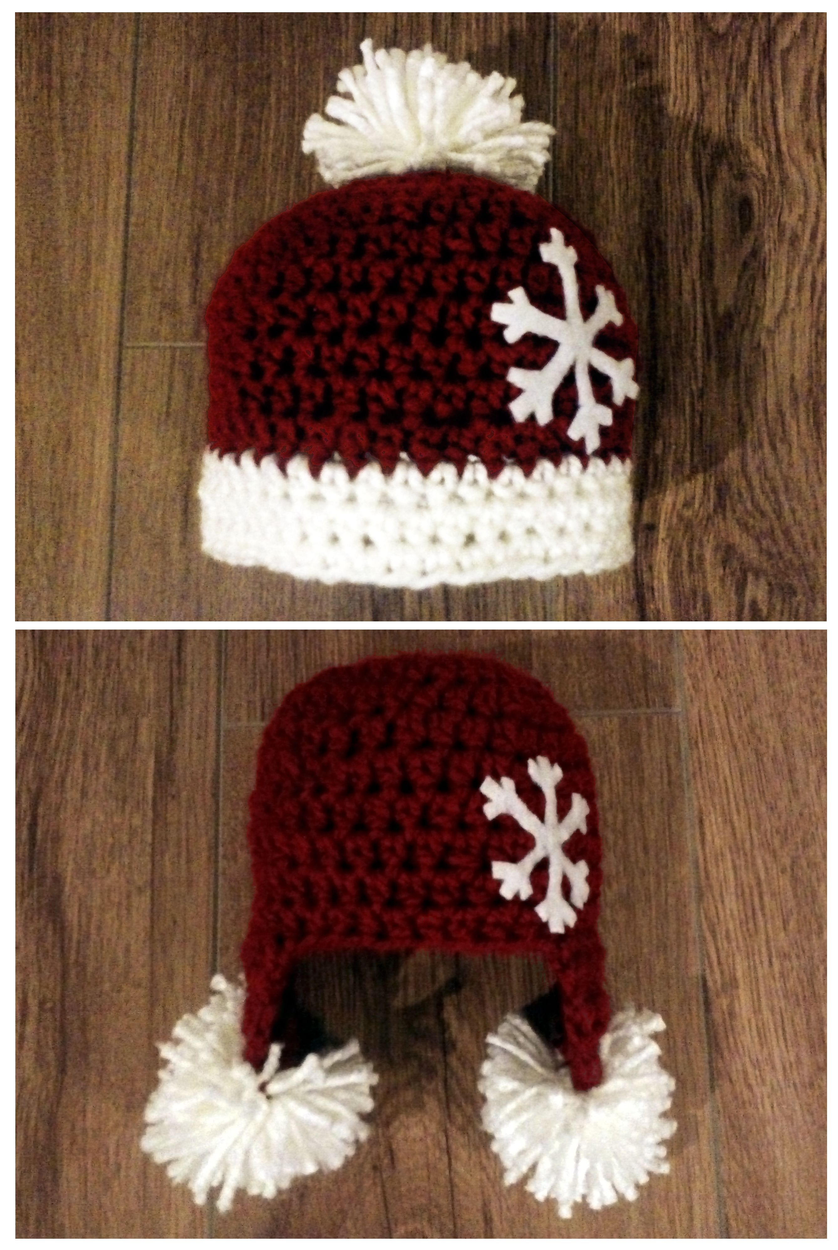 5ae3e843ea8 RED CHRISTMAS BABY CROCHET HAT