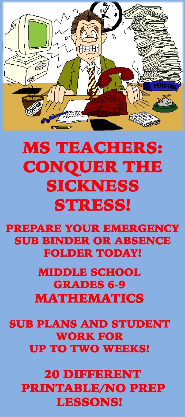 School Is Starting Sooner Or Later You Ll Need A Sick Day Or Emergency Absence These Resources Will Take Middle School Math Middle School Emergency Sub Plans [ 1620 x 720 Pixel ]