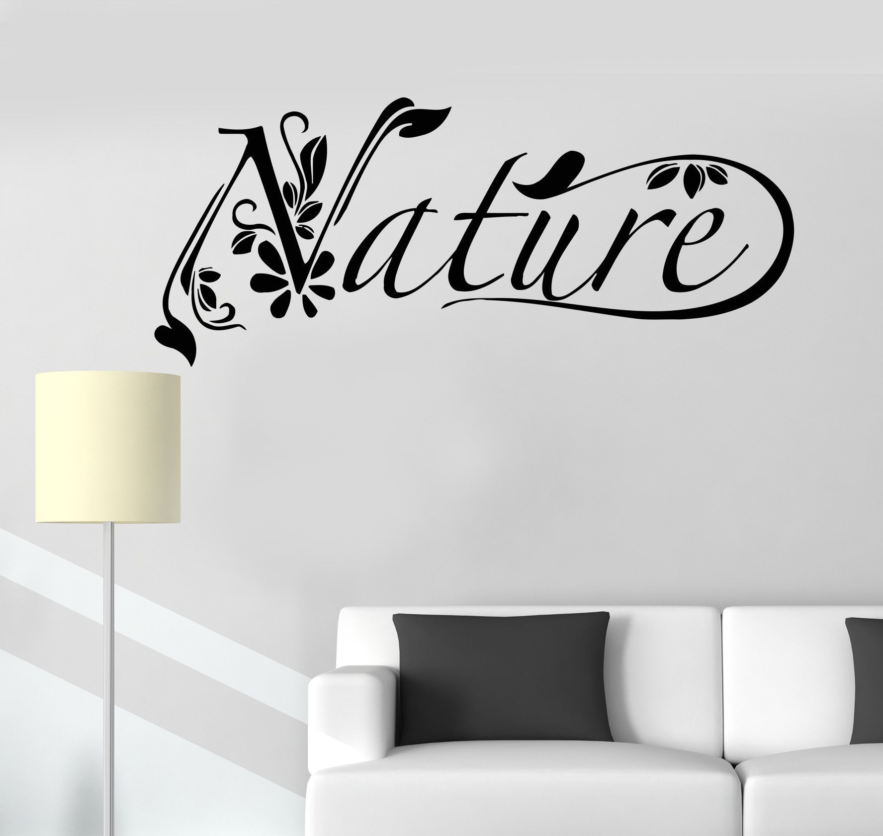 Vinyl Wall Decal Nature Plants Environment Healthy Lifestyle - Wall decals nature and plants