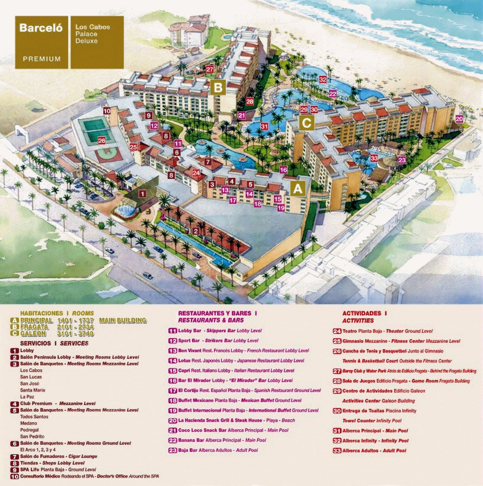 image result for barcelo gran faro los cabos resort map places i d like to go in 2019 map. Black Bedroom Furniture Sets. Home Design Ideas