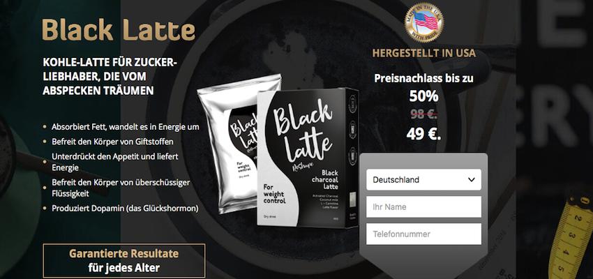 Black latte para adelgazar