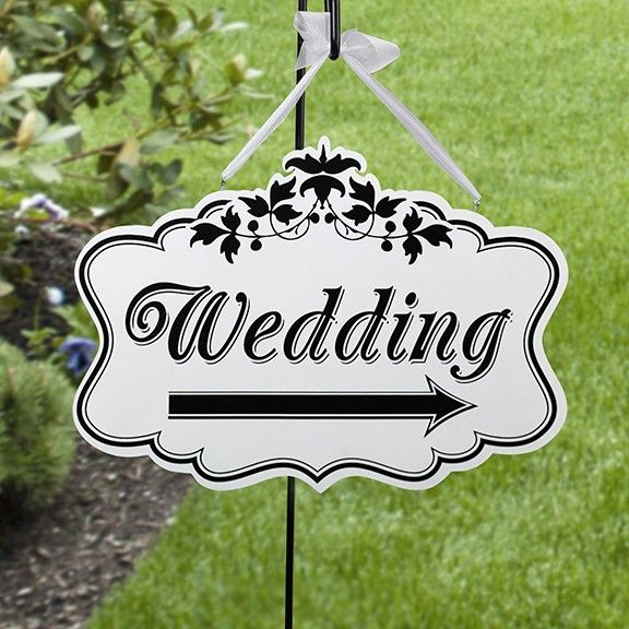 Wedding Direction Sign (double-sided)