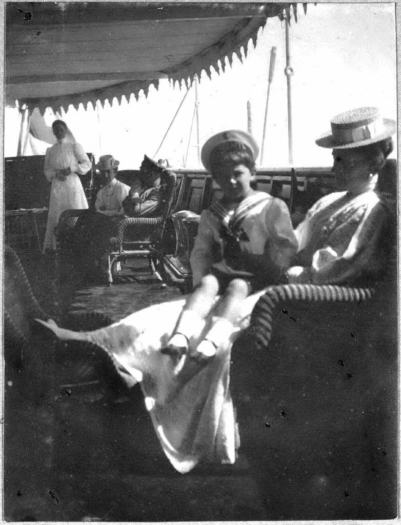 Tsarevich Alexei and his mother, Tsarina Alexandra