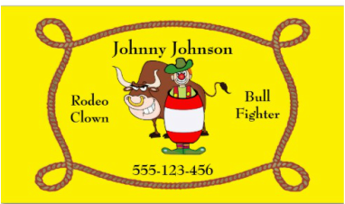 Rodeo clown business card western business cards pinterest business cards colourmoves