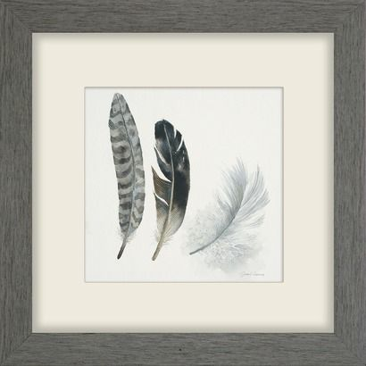 22x22 framed feather print target