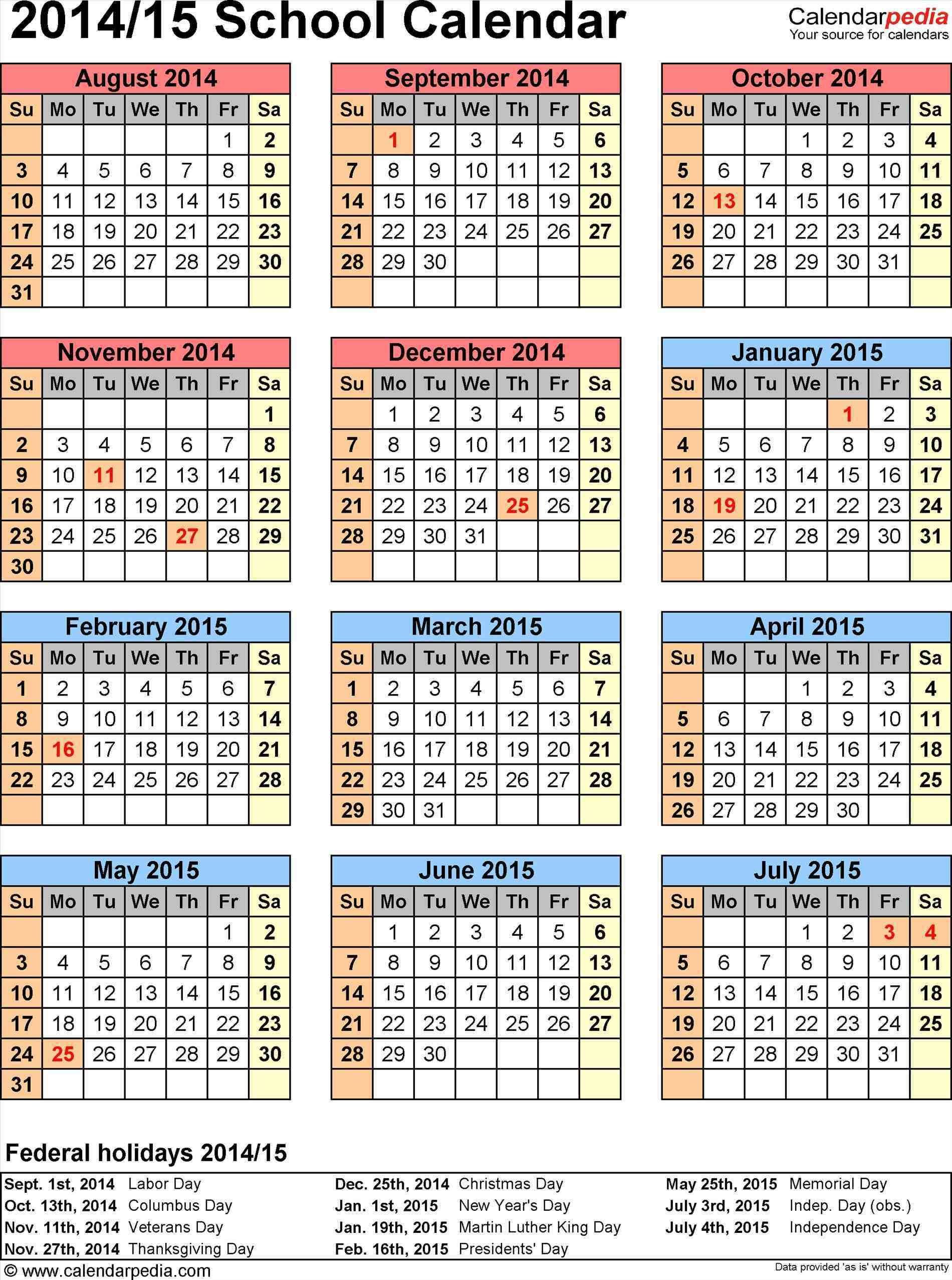 Calendar Word Insssrenterprisesco Calendar Calendar 2014 15 Template