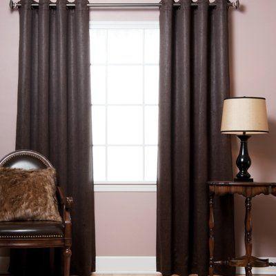 Loon Peak Lochian Faux Leather Grommet Top Blackout Curtain Panels