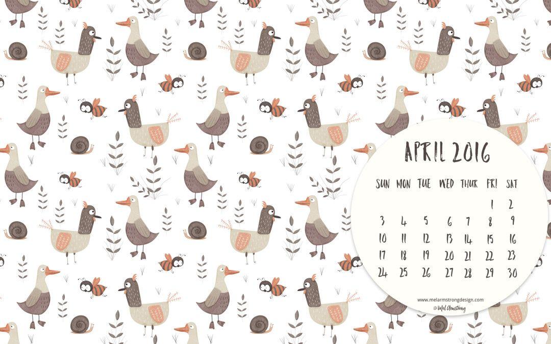 Desktop Calendar April 2016 april 2016 free desktop calendar download | calendars | pinterest