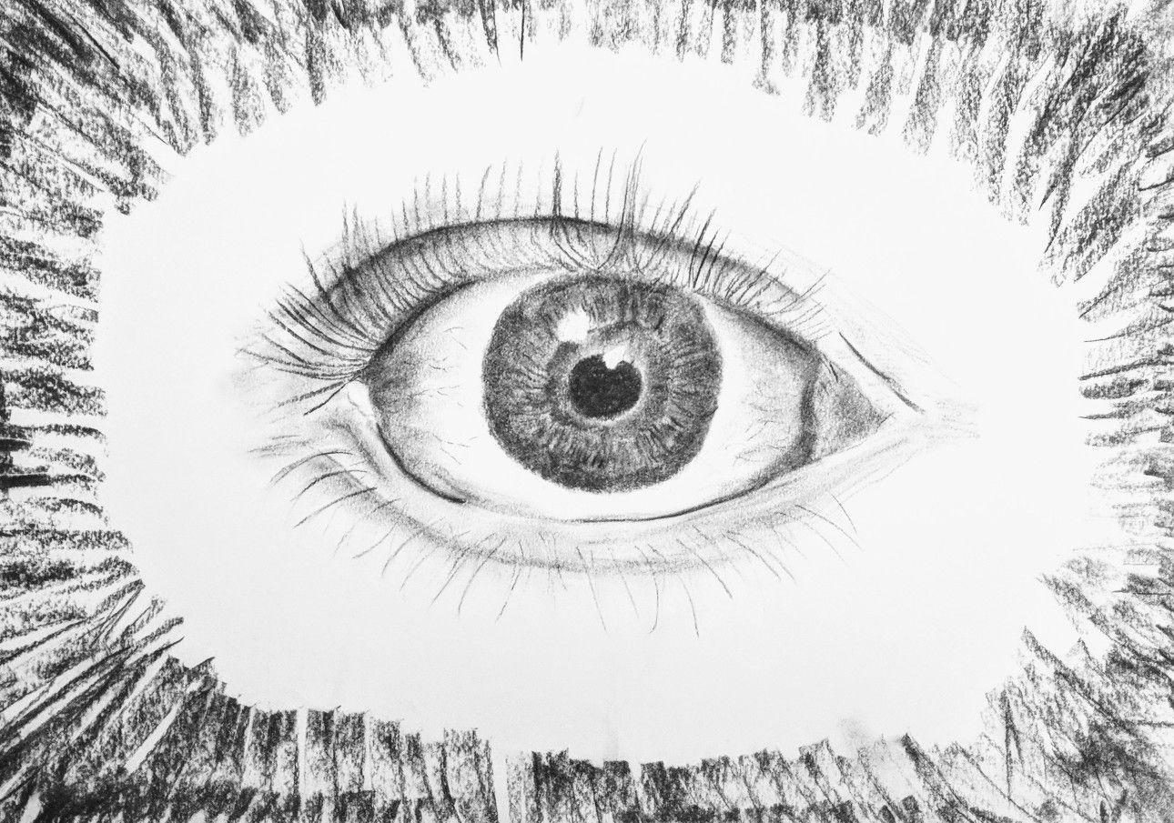 Draw Human Eyes Charcol Drawing Of Human Eye Emz Rosser