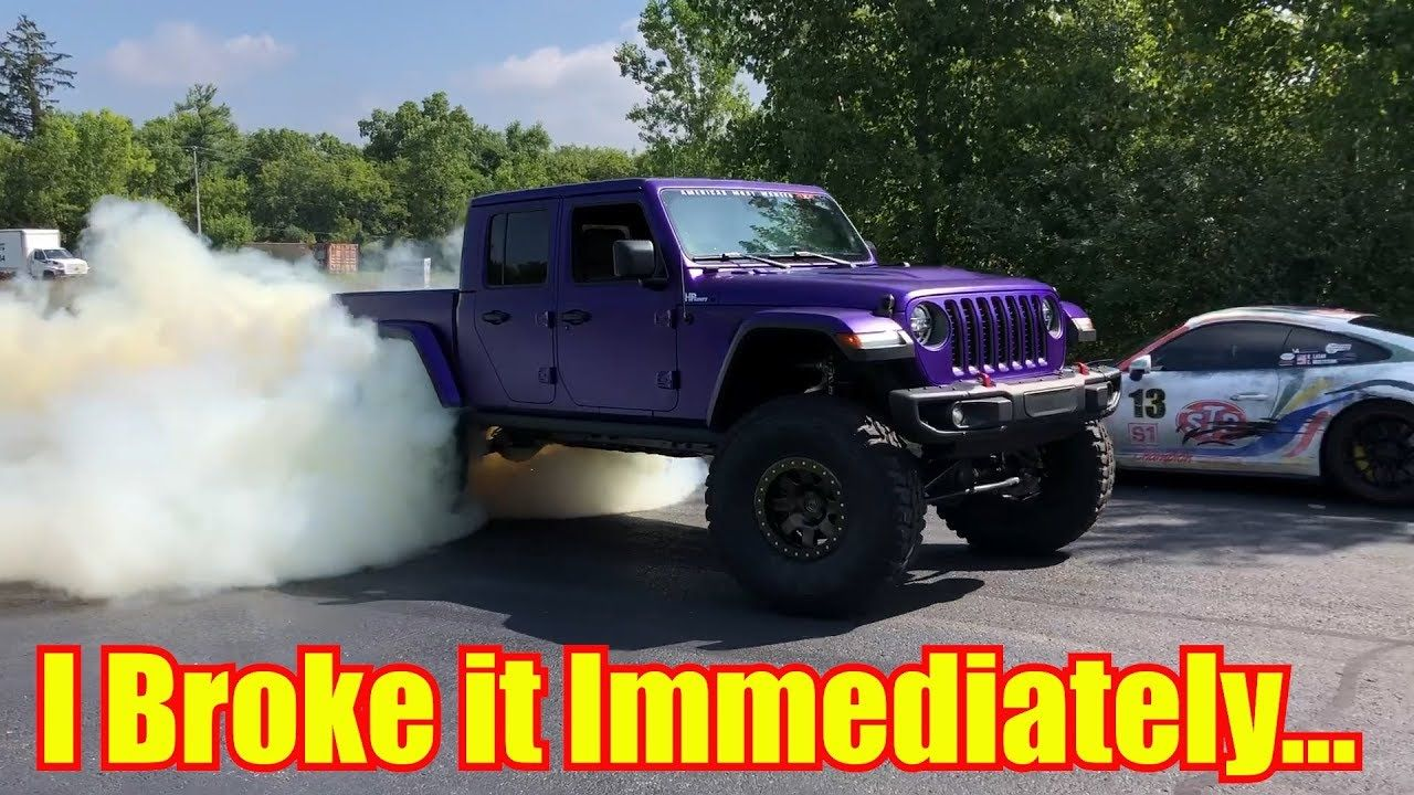 Broke My New Hellcat Jeep Gladiator In 9 Minutes Brought To You