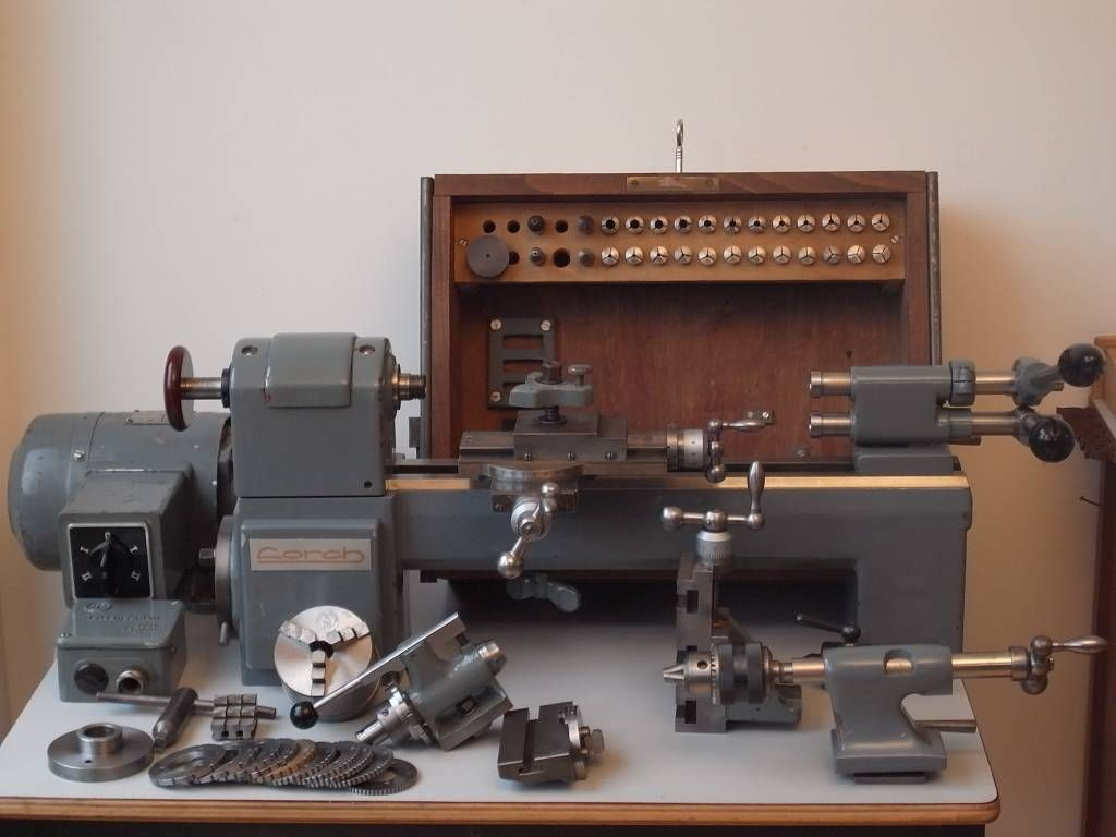 Lorch LLK Precision Lathe (1969) - Niels machines   Jewelers Lathe