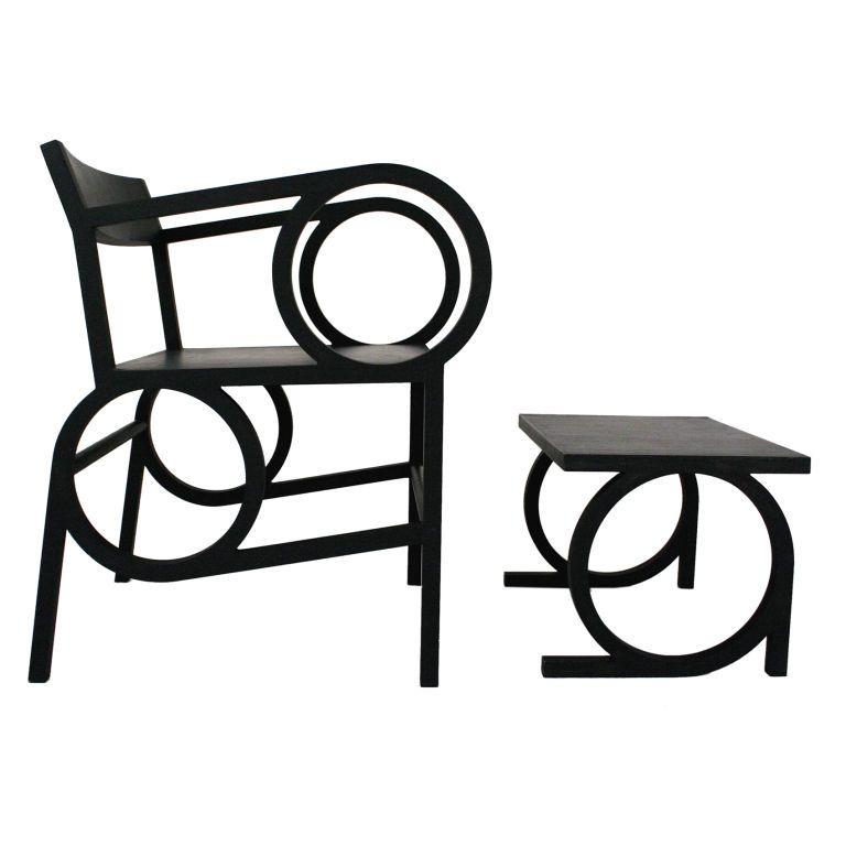 Circle Armchair and Ottoman by Christopher Kurtz