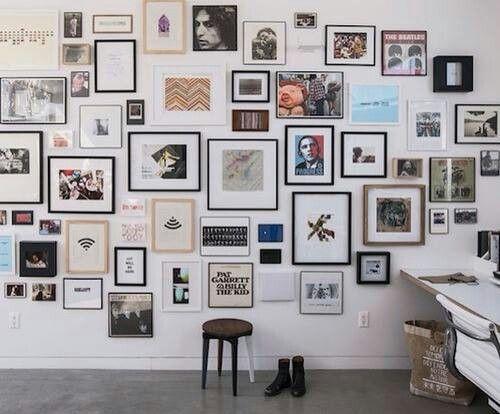 interiors #decoration #wall #frames Inspiracion Pinterest Wall
