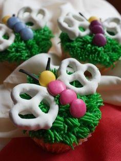 Cupcake de mariposa