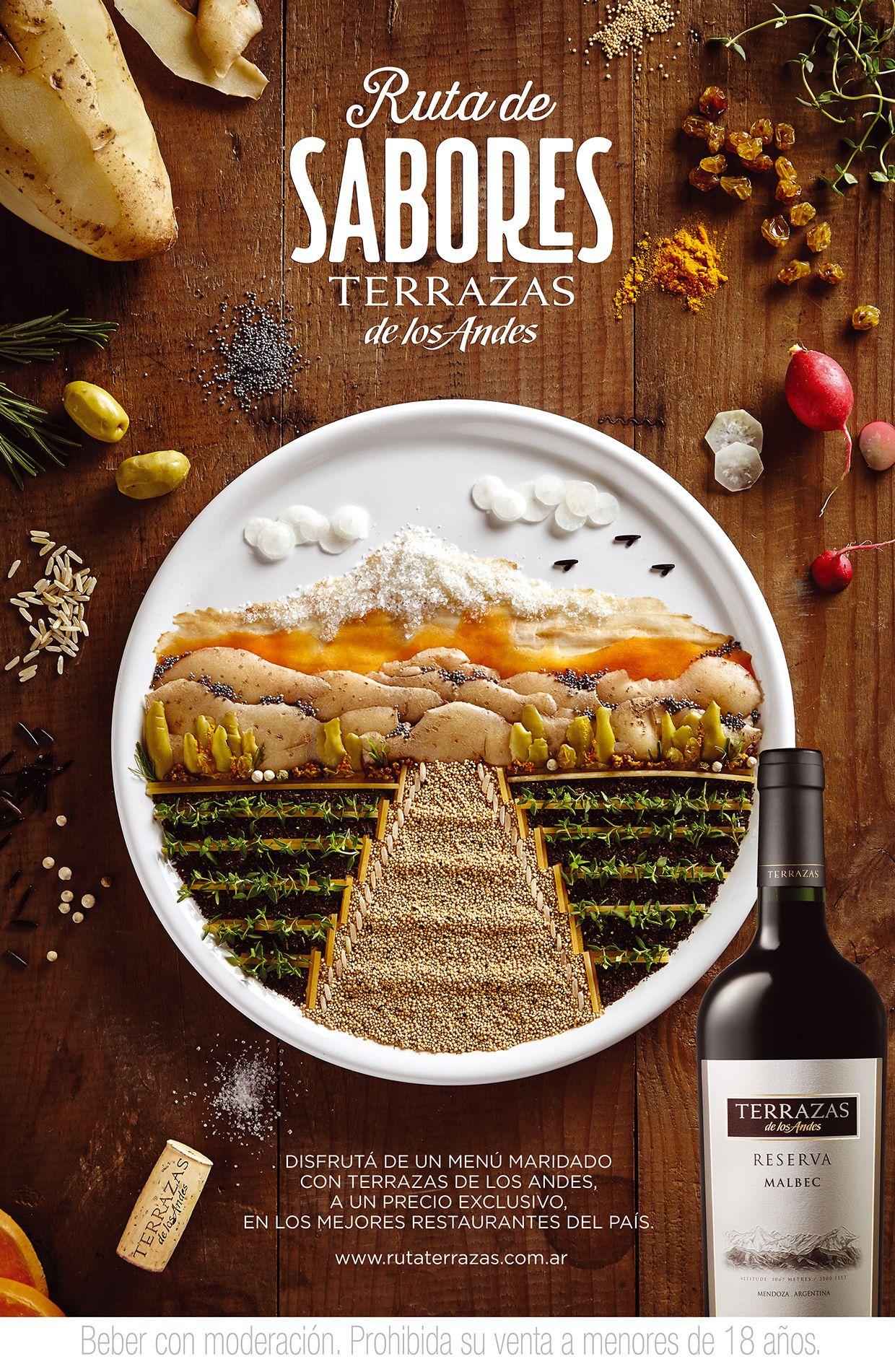 Ruta De Sabores Terrazas De Los Andes Food Poster Design