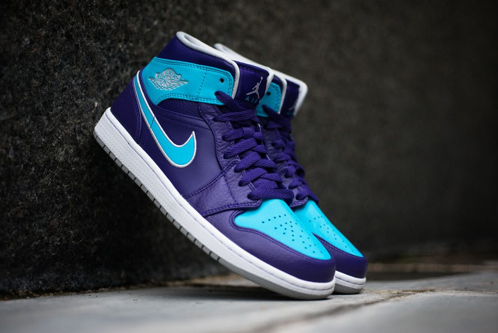 half off 71de6 b9117 Air Jordan 1 Mid  Hornets  - Court Purple   Gamma Blue   Sole Collector