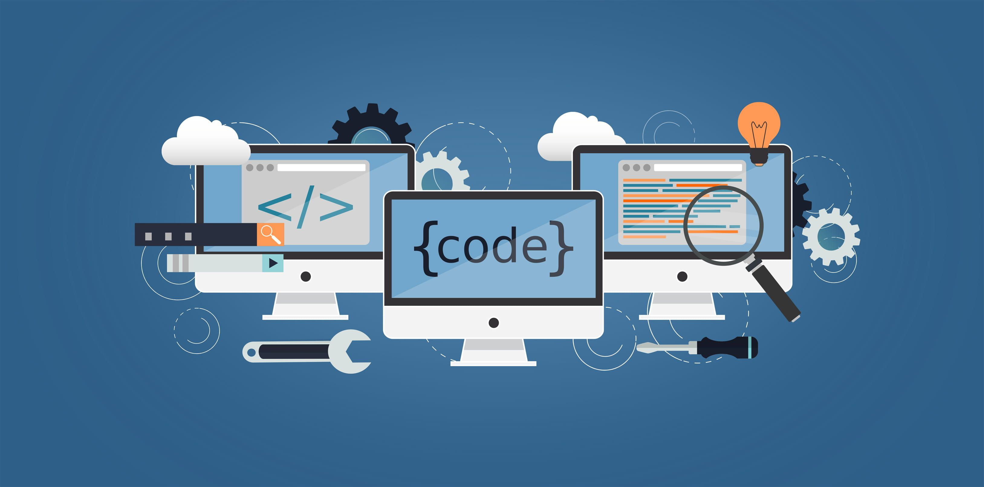 Coding And Programming Computer Science And It Abstract Php C Analytics Html Css Java Javascript Rubi App What Is Computer Coding Computer Science