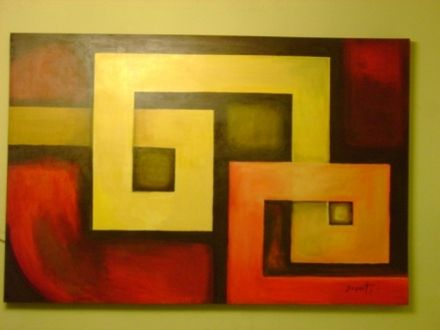 Cuadros minimalistas y abstractos en lienzos originales a pincel ...